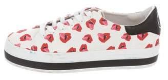 Alice + Olivia Printed Low-Top Sneakers