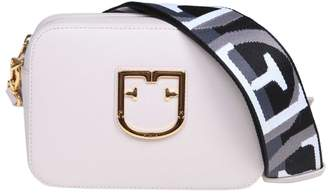 Furla Shoulder Strap In Leather White Color