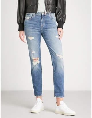 J Brand Johnny boyfriend-fit straight mid-rise jeans