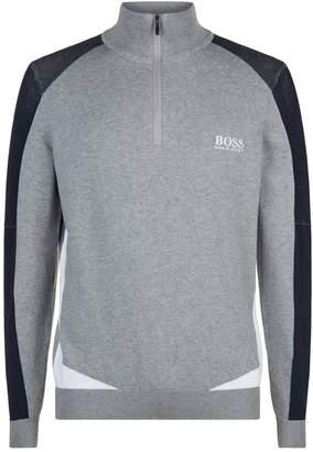 BOSS GREEN Quarter Zip Sweater