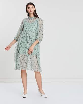 Abigail Polka Dot Sheer Dress