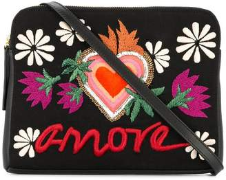 Lizzie Fortunato Amore embroidery shoulder bag