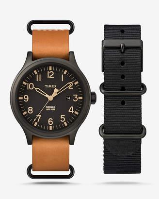 Express Timex Scout Tan & Black Gift Set