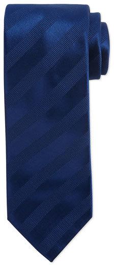 BrioniBrioni Ribbon Striped Silk Tie, Blue
