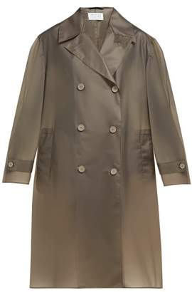 Maison Margiela Double Breasted Pvc Trench Coat - Womens - Grey