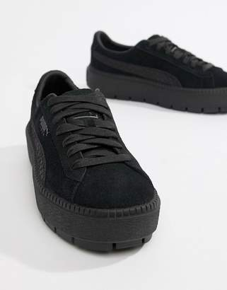 351a6d0bfb5 Puma Suede Platform Trace Animal Trainers