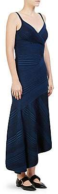 Cédric Charlier Women's Cashmere Stripe-Knit Asymmetrical Dress