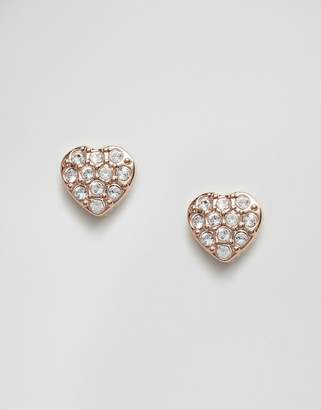 Ted Baker Pave Crystal Heart Earrings