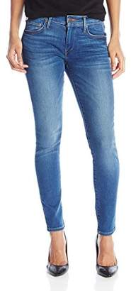 True Religion Women's Mid Rise Halle Super Skinny Jeans