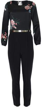 EGO SOLEIL - Floral Long Sleeve Jumpsuit