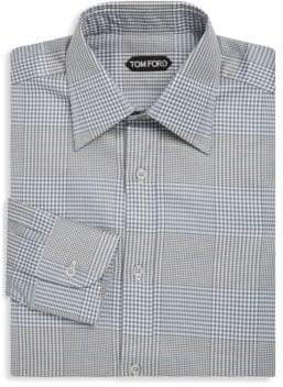 Tom Ford Striped and Plaid Cotton Dress Shirt