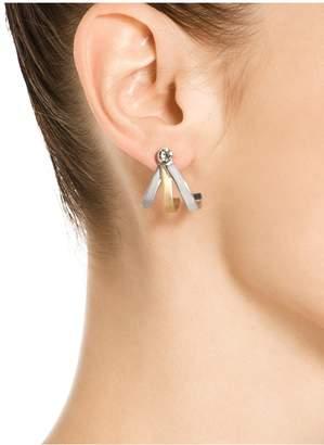 St. John Swarovski Crystal Metal Earring