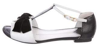 Chanel CC Embellished T-Strap Sandals