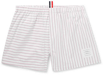 Thom Browne Striped Cotton Oxford Boxer Shorts