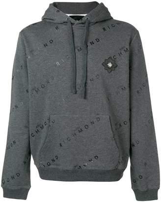 John Richmond logo print hoodie