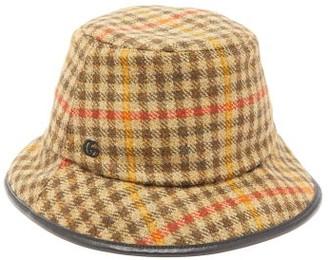 Gucci Tweed Bucket Hat - Mens - Khaki