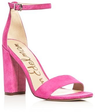 Sam Edelman Yaro Ankle Strap Block Heel Sandals $120 thestylecure.com