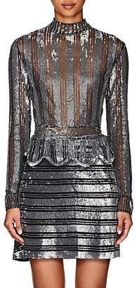 Derek Lam 10 Crosby Women's Sequined Silk Mesh Top - Black