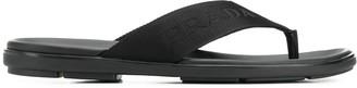 Prada logo flip flops
