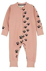 The Bonnie Mob Infants' Paw-Print Cotton Coverall - Pink