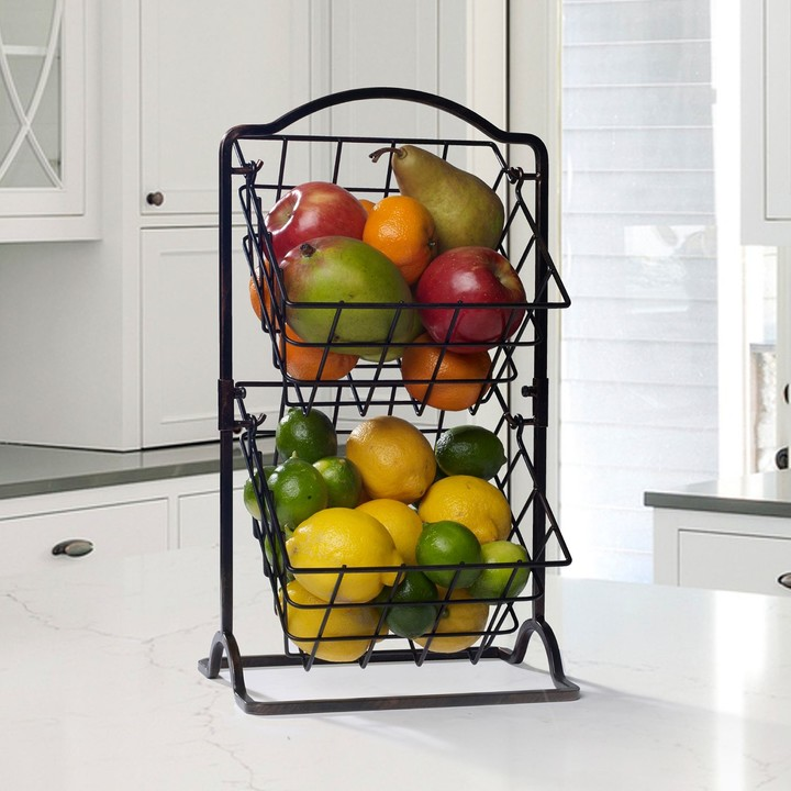 Gourmet Basics General Store 2-Tier Hanging Basket