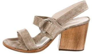Robert Clergerie Suede Ankle Strap Sandals