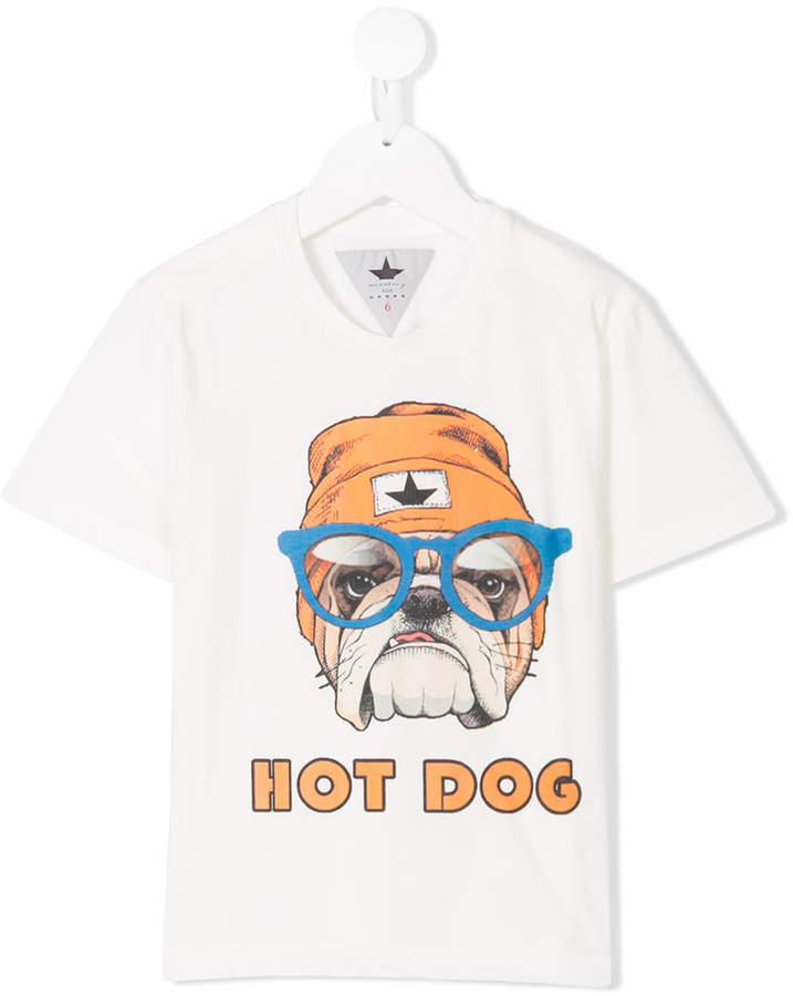 Macchia J Kids bull dog print T-shirt