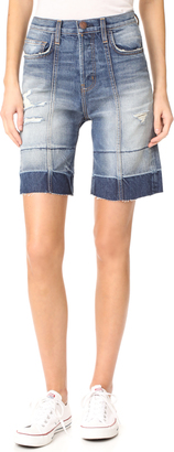 Current/Elliott The Seamed Shorts $208 thestylecure.com