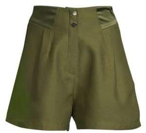 Fleur Du Mal Pleated Army Shorts
