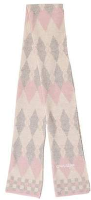 Courreges Argyle Knit Scarf