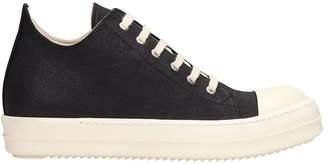 Drkshdw Black Canvas Low Sneaks Sneakers