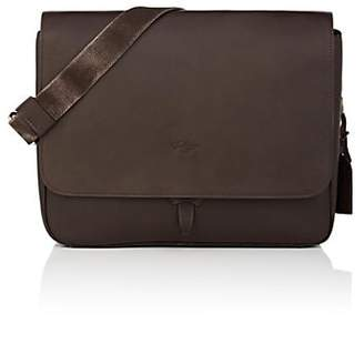 Boldrini Selleria Men's Leather Messenger Bag - Dk. brown