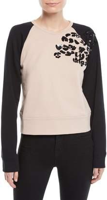 No.21 No. 21 Sequin Raglan Pullover Sweater
