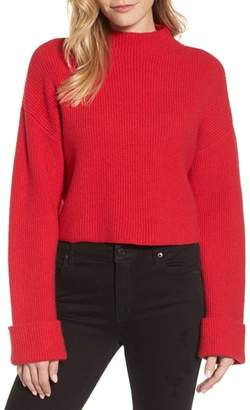 Kenneth Cole New York Wide Cuff Mock Neck Sweater