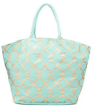 Mud Pie Shimmer Juco Tote $38 thestylecure.com