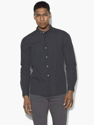 John Varvatos Floral Band Collar Shirt
