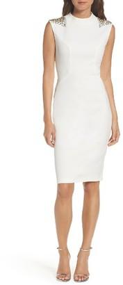 Women's Vince Camuto Beaded Sheath Dress $188 thestylecure.com