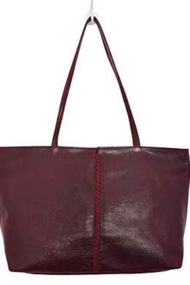Latico Leathers Braid-Front Leather Tote