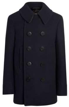 Burberry Claythorpe Double-Breasted Wool Pea Coat