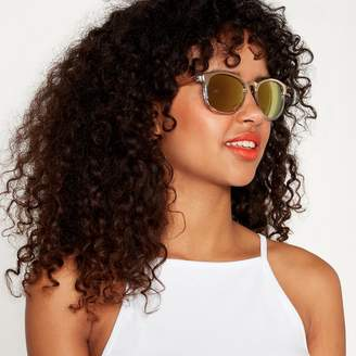 Red Herring White And Gold Cat-Eye Sunglasses