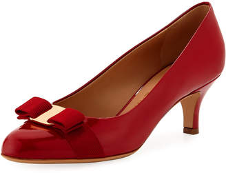 Salvatore Ferragamo Low-Heel Pumps with Bow Detail