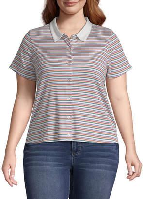 Arizona Short Sleeve Polo Shirt Juniors Plus