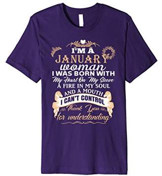 I'm a January woman T-shirt