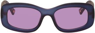 Le Specs Double Rainbouu Purple Edition Five Star Sunglasses