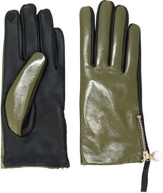 Twin-Set contrast gloves $102.33 thestylecure.com