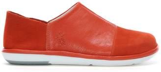 Fly London Mola Orange Leather Slip On Shoes