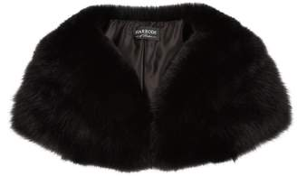 Harrods Wide Fox Fur Collar