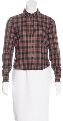 Boy. by Band of Outsiders Plaid Print Button-Up Top $65 thestylecure.com