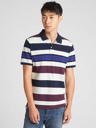 Gap Mix-Stripe Pique Polo Shirt in Stretch