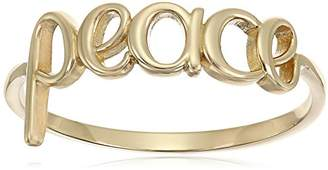 """14k Gold""""Peace"""" Ring"""